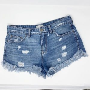 Free People | Cut Off Jean Shorts Distressed  | 30